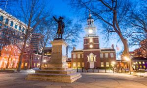 宾夕法尼亚州议会大楼风光高清图片