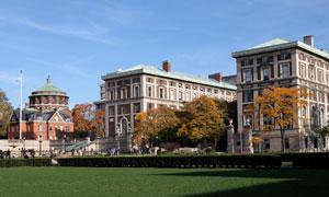 哥伦比亚大学校园风光摄影高清图片