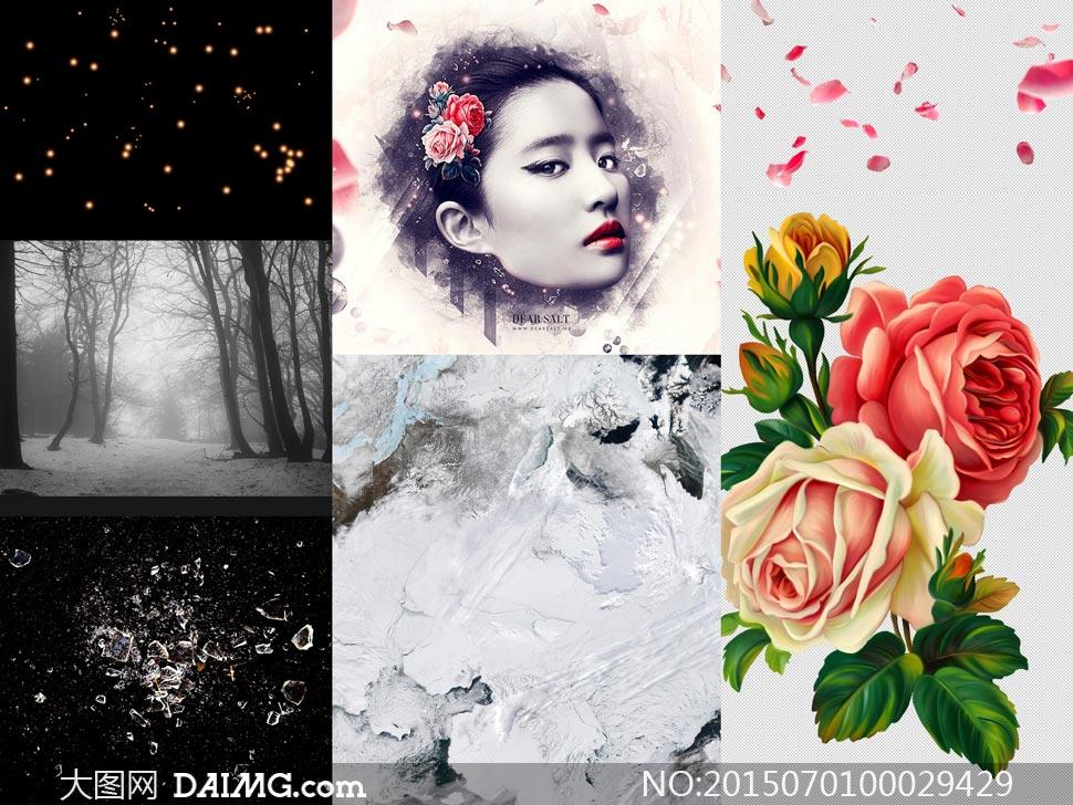 花瓣网美女手绘图片