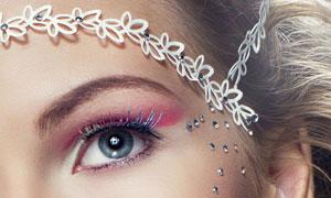 妆容美女人物局部特写摄影高清图片