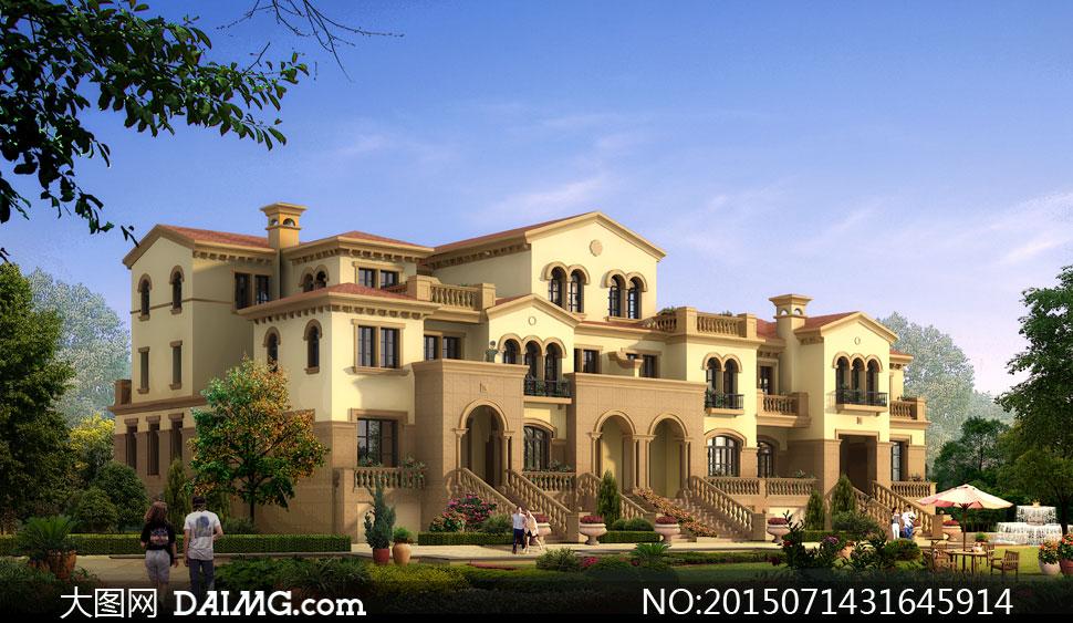 关键词: psd分层素材建筑表现环境设计景观设计室外设计效果图景观图