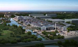新农村规划建设后期效果图分层素材