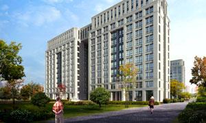 楼房建筑物与绿化设施PSD分层素材