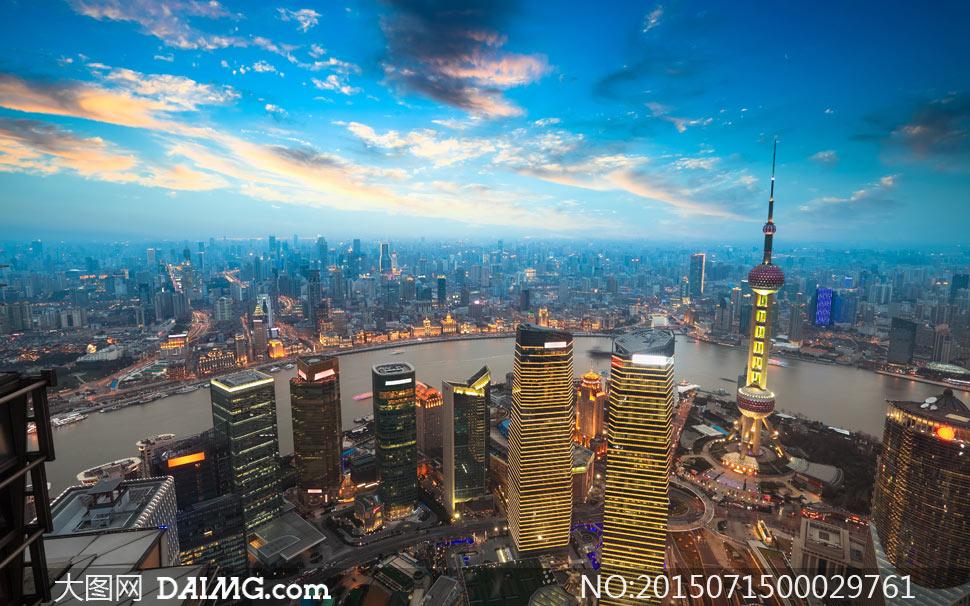东方明珠自然景观建筑景观摄影高清大图图片素材