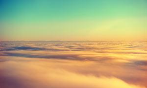 美丽的云海和云端美景摄影图片