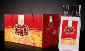 高档大米礼盒包装设计PSD源文件