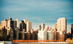 蓝天城市建筑景观风光摄影高清图片