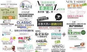 25款淘宝时尚女装字体设计PSD素材