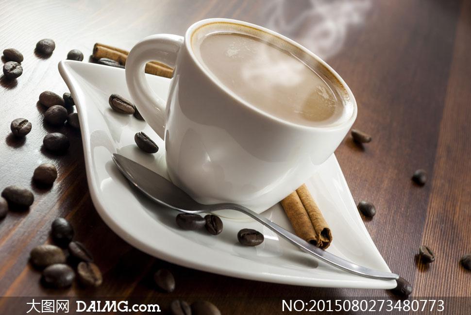 咖啡桂皮调羹汤匙木板木纹