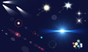 绚丽的星光和光晕设计PSD分层素材