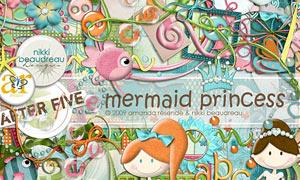 海星水母与丝带边框等欧美剪贴素材