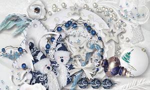 挂球布花等圣诞节主题欧美剪贴素材
