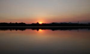 厦门路江湖夕阳美景摄影图片