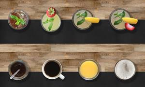 冰红茶柠檬水与橙汁等饮料分层素材