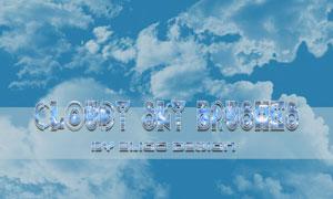 天空云彩和云朵装饰PS笔刷