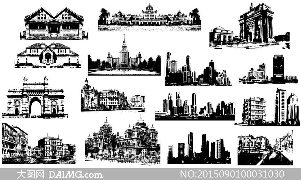 各国地标性建筑物PS笔刷