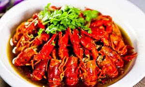 清水小龙虾特色美食摄影图片