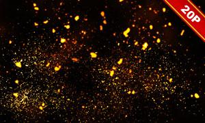 飞舞着的梦幻萤火虫图层叠加图片集