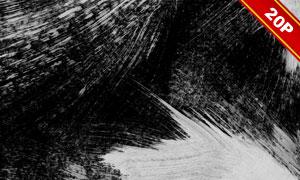 手绘创意黑白涂抹效果纹理图片集V3