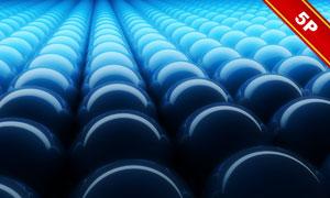 紧密排列着的球体透视效果高清图片