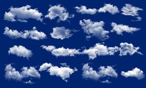 天空云彩和白云元素PSD分层素材