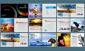 广告传媒公司宣传册设计PSD源文件