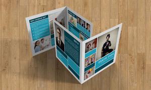 品牌推广宣传单页版式设计分层模板