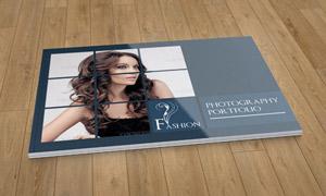摄影作品主题画册版式设计分层文件