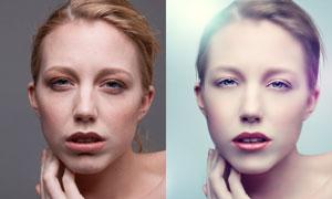 人物肖像后期磨皮精修ps教程素材图片