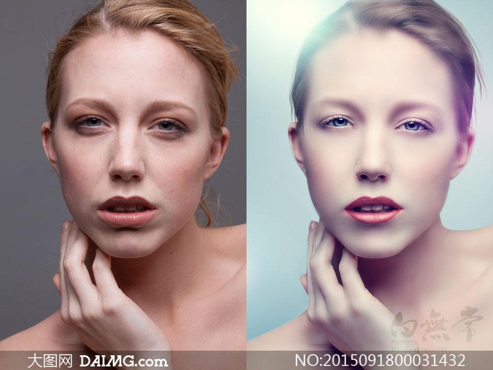 人像处理后期精修商业精修肤色精修质感肤色质感人像