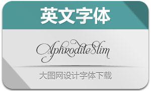 AphroditeSlim系列四款英文字体