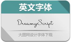 DreamyScript系列三款英文字体
