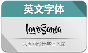 LoveSania系列十款英文字体