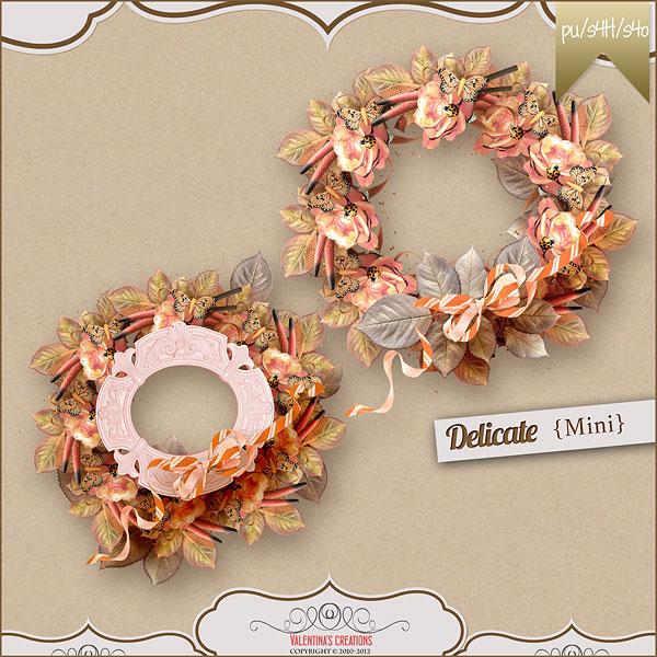 花卉树叶与相框蝴蝶等欧美剪贴素材