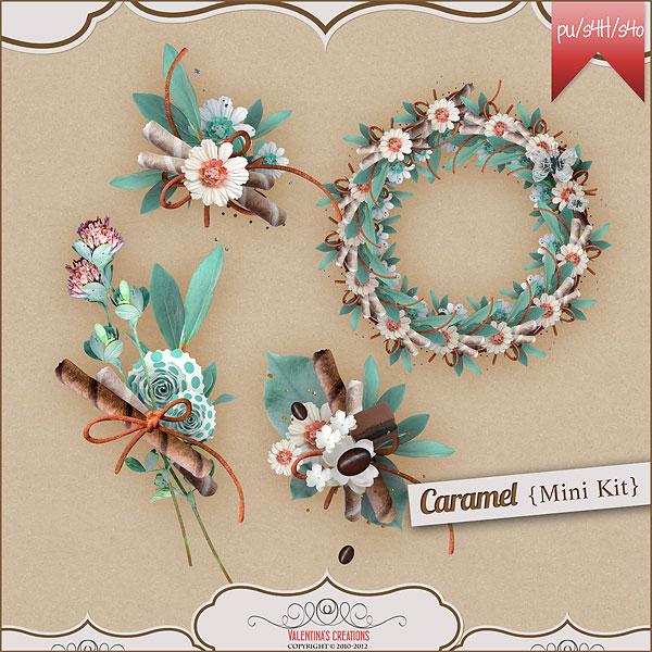 纸花鸟窝与树叶花环等欧美剪贴素材