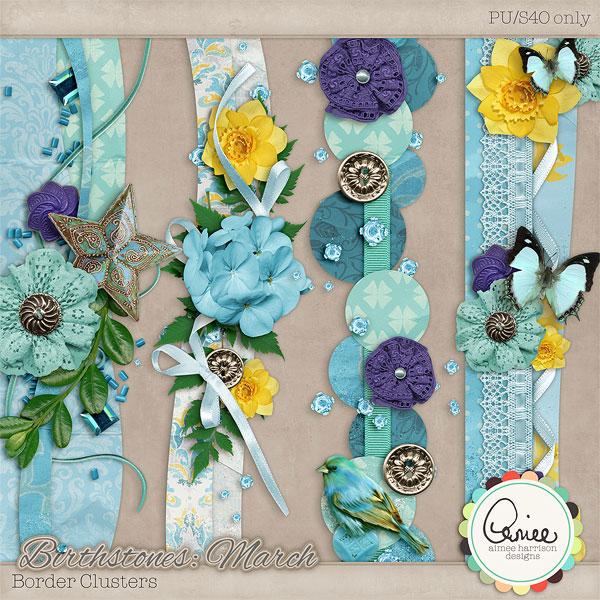 小鸟蝴蝶与缎带卡片等欧美剪贴素材