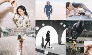 30款照片添加光斑和暴风雪效果PS动作
