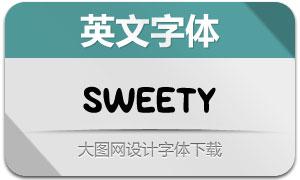 Sweety系列三款英文字体