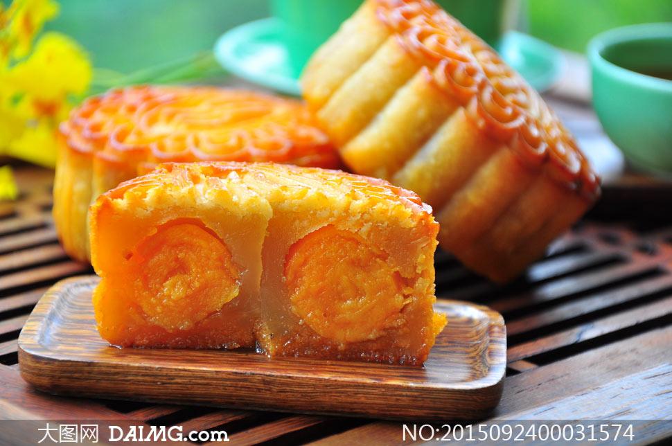 中秋节月饼美食摄影图片 - 大图网设计素材下载