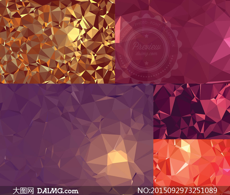 几何多边形元素背景矢量素材集v24
