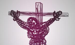 创意的铁链艺术字AI教程素材