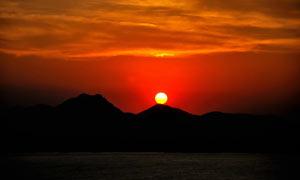 长江唯美的日落美景摄影图片