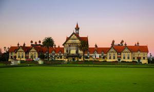 新西兰罗托鲁瓦政府花园摄影图片