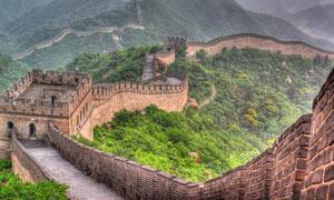 北京八达岭长城全景图摄影图片