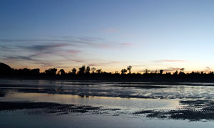 海边美丽的黄昏景色摄影图片