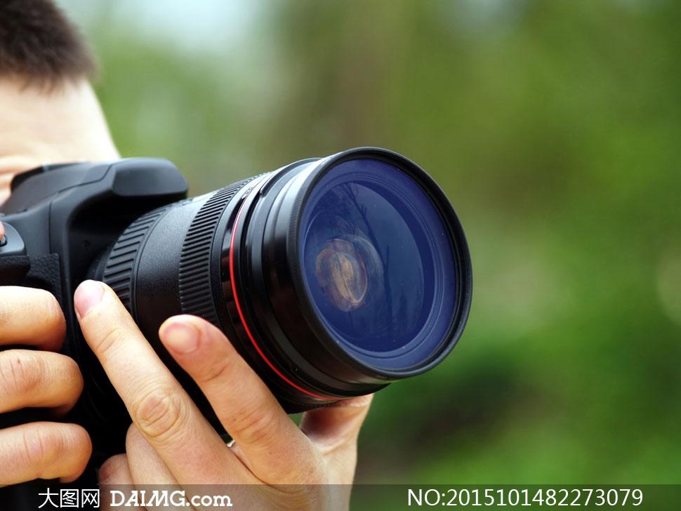 材设备镜头照相机人物