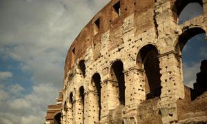 意大利罗马斗兽场特写摄影高清图片