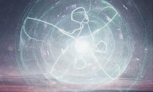 云端中梦幻的星球场景PS教程素材