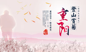 重阳敬老爱老活动海报设计PSD素材