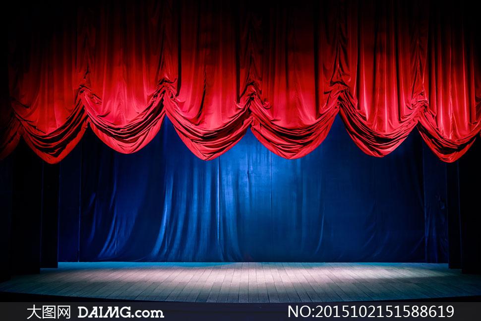 正落下帷幕的剧院舞台摄影高清图片 - 大图网设
